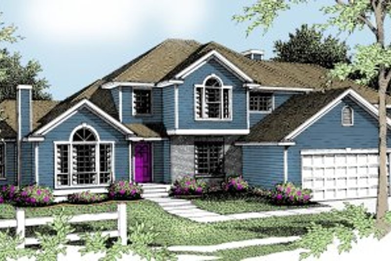 Traditional Exterior - Front Elevation Plan #94-201 - Houseplans.com