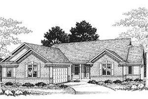 Traditional Exterior - Front Elevation Plan #70-446