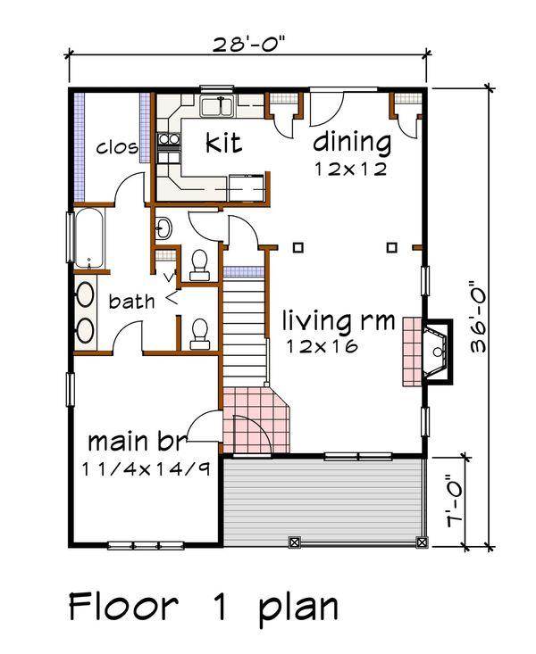 Dream House Plan - Craftsman Floor Plan - Main Floor Plan #79-299
