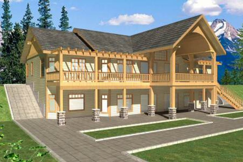 Dream House Plan - Southern Exterior - Front Elevation Plan #117-565