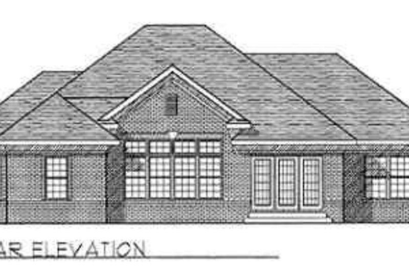 Traditional Exterior - Rear Elevation Plan #70-362 - Houseplans.com