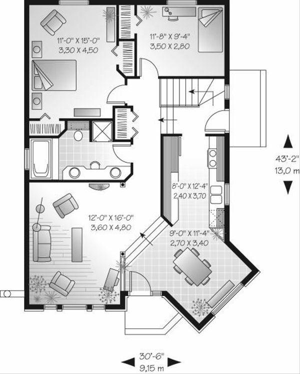 Modern Floor Plan - Main Floor Plan Plan #23-700