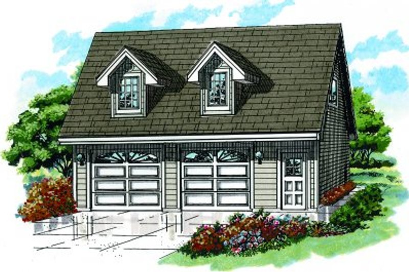 Country Exterior - Front Elevation Plan #47-513