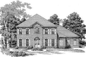 Southern Exterior - Front Elevation Plan #325-259