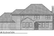 Bungalow Style House Plan - 4 Beds 2.5 Baths 3124 Sq/Ft Plan #70-491 Exterior - Rear Elevation
