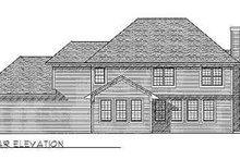 House Design - Bungalow Exterior - Rear Elevation Plan #70-491