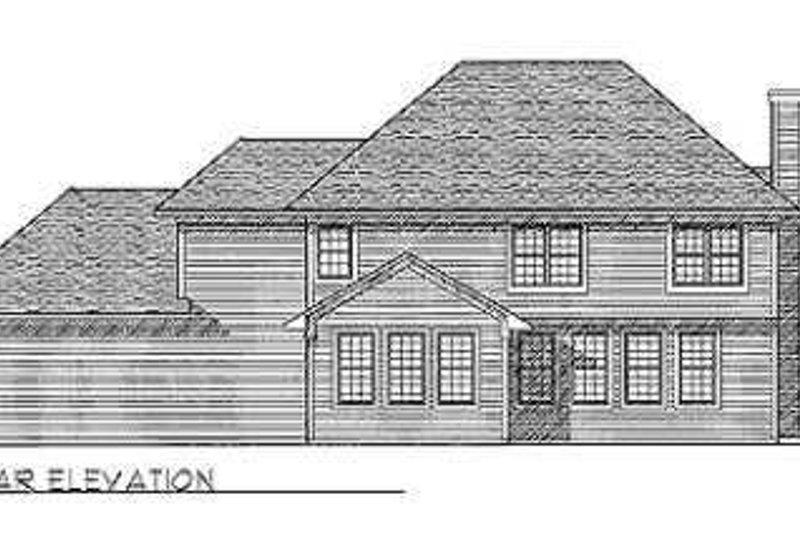 Bungalow Exterior - Rear Elevation Plan #70-491 - Houseplans.com