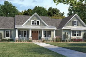 Dream House Plan - Farmhouse Exterior - Front Elevation Plan #1074-32