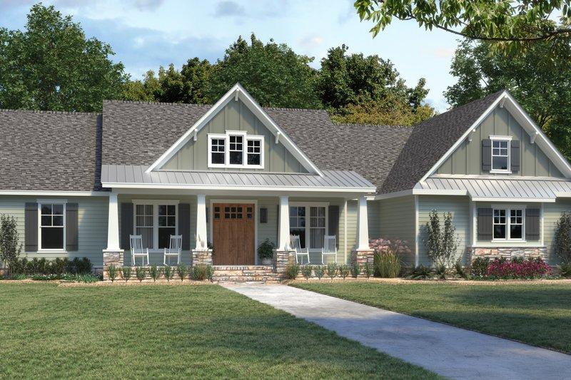 Dream House Plan - Farmhouse Exterior - Front Elevation Plan #1074-32