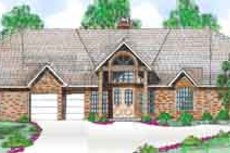 Traditional Exterior - Front Elevation Plan #52-191 - Houseplans.com