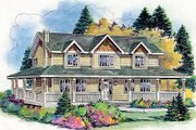 Country Style House Plan - 5 Beds 2.5 Baths 2388 Sq/Ft Plan #18-4460