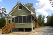Cabin Style House Plan - 3 Beds 2 Baths 1370 Sq/Ft Plan #118-113