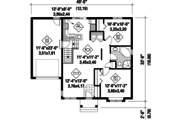 Traditional Style House Plan - 2 Beds 1 Baths 896 Sq/Ft Plan #25-4321 Floor Plan - Main Floor