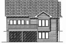 Dream House Plan - Traditional Exterior - Rear Elevation Plan #70-192