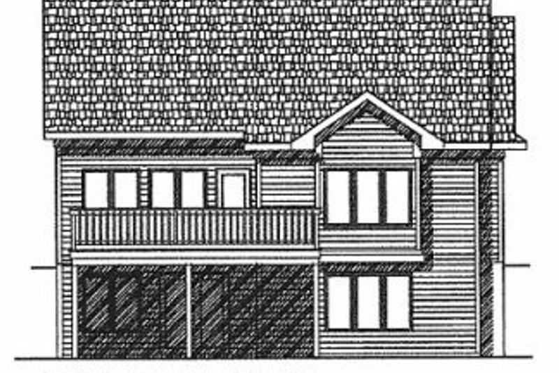 Traditional Exterior - Rear Elevation Plan #70-192 - Houseplans.com