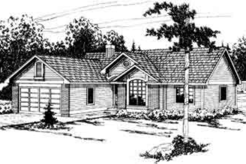 Home Plan - Traditional Exterior - Front Elevation Plan #124-291