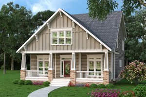 Home Plan - Bungalow Exterior - Front Elevation Plan #419-275