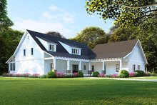 Home Plan - Farmhouse Exterior - Front Elevation Plan #923-107