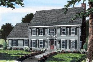 Colonial Exterior - Front Elevation Plan #312-582