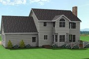 Traditional Style House Plan - 3 Beds 2.5 Baths 1875 Sq/Ft Plan #75-160 Exterior - Rear Elevation