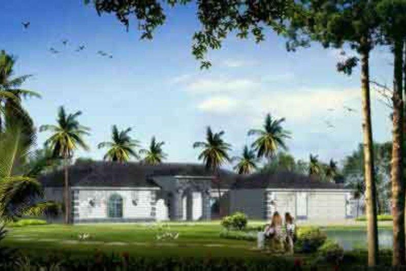 Adobe / Southwestern Style House Plan - 4 Beds 3 Baths 2967 Sq/Ft Plan #1-1095