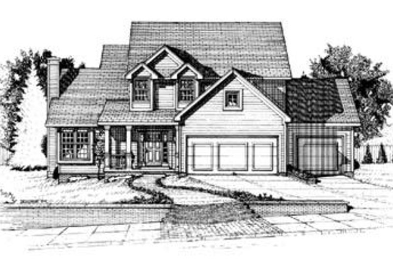 Traditional Exterior - Front Elevation Plan #20-554 - Houseplans.com