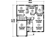 Traditional Style House Plan - 2 Beds 1 Baths 1099 Sq/Ft Plan #25-4362 Floor Plan - Main Floor Plan