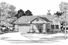 Traditional Exterior - Front Elevation Plan #72-258