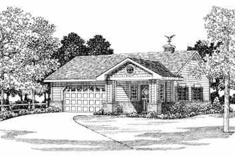 House Blueprint - Traditional Exterior - Front Elevation Plan #72-258