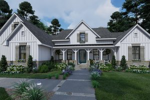 House Design - Farmhouse Exterior - Front Elevation Plan #120-265