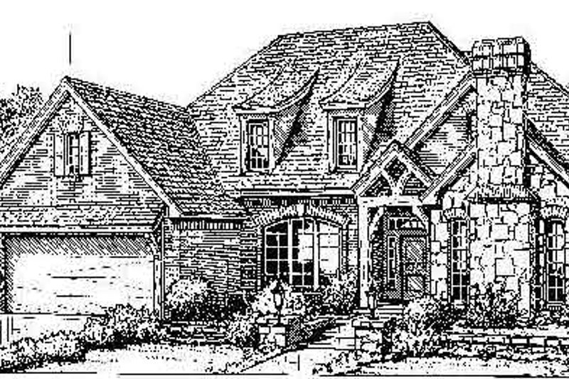 Colonial Style House Plan - 4 Beds 3.5 Baths 2728 Sq/Ft Plan #310-714 Exterior - Front Elevation