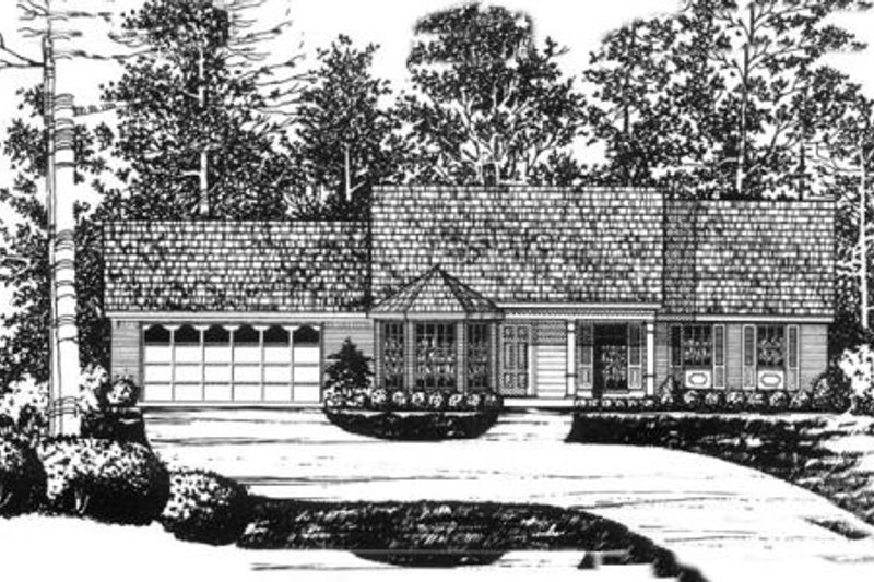 Traditional Exterior - Front Elevation Plan #40-345