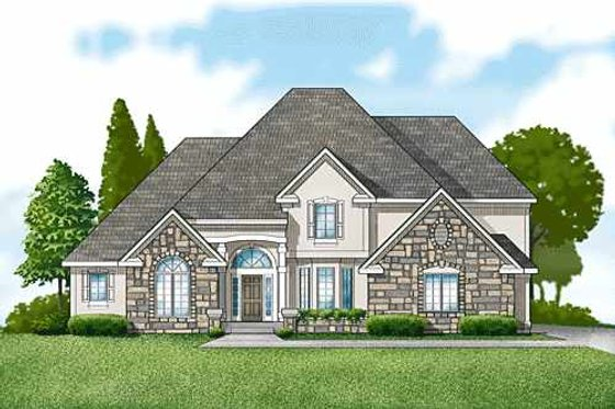 Traditional Exterior - Front Elevation Plan #67-288