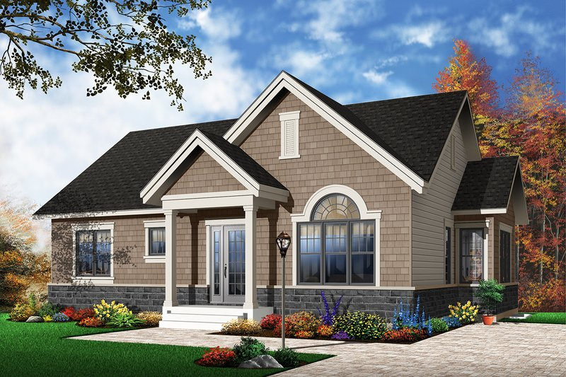 Dream House Plan - Traditional Exterior - Front Elevation Plan #23-2202