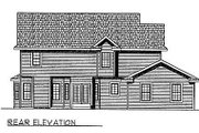 Southern Style House Plan - 4 Beds 2.5 Baths 2171 Sq/Ft Plan #70-326 Exterior - Rear Elevation