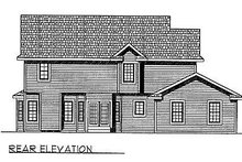 Southern Exterior - Rear Elevation Plan #70-326