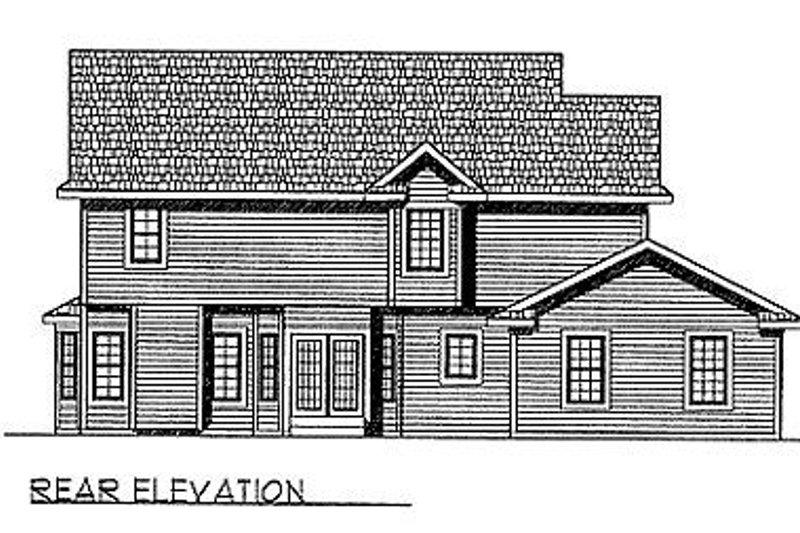 Southern Exterior - Rear Elevation Plan #70-326 - Houseplans.com
