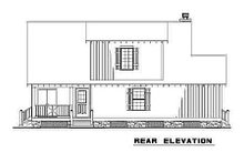 House Plan Design - Country Exterior - Rear Elevation Plan #17-2017