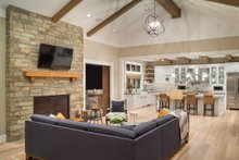 Dream House Plan - Great Room - 4900 square foot Colonial home