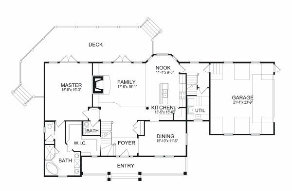 European Floor Plan - Main Floor Plan Plan #417-277