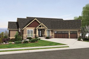 Craftsman Exterior - Front Elevation Plan #48-467