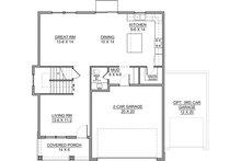 Traditional Floor Plan - Main Floor Plan Plan #1073-9