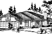House Blueprint - Ranch Exterior - Front Elevation Plan #18-132