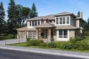 Contemporary Style House Plan - 4 Beds 3.5 Baths 3126 Sq/Ft Plan #1066-80 Exterior - Other Elevation