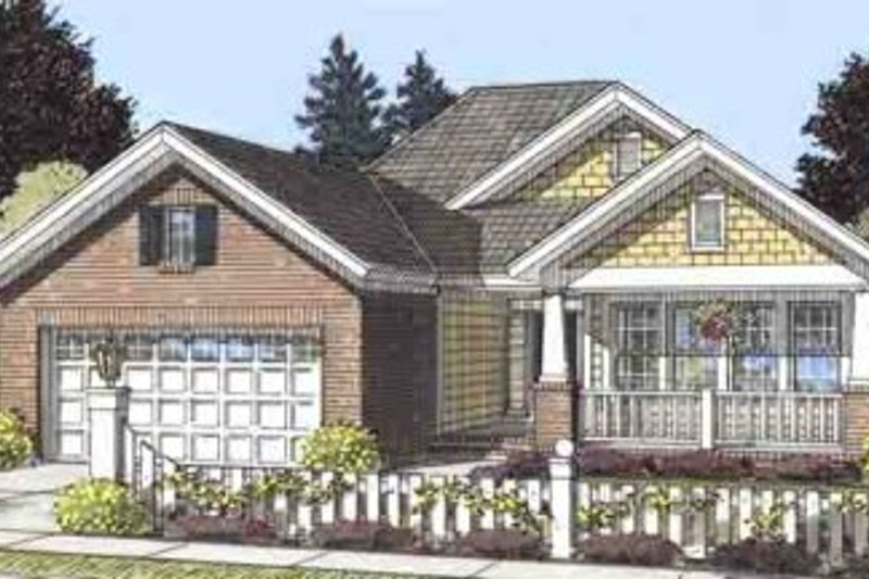 Craftsman Exterior - Front Elevation Plan #20-1514