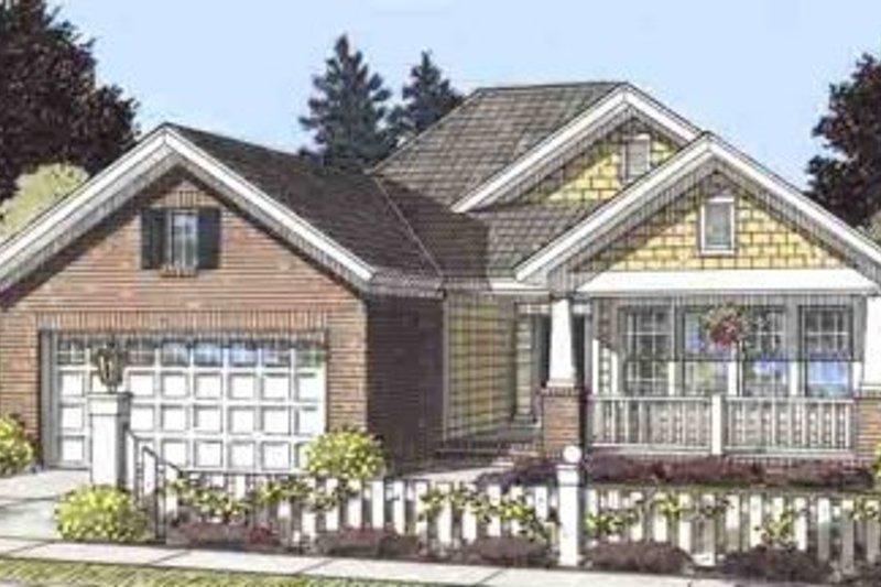 Home Plan - Craftsman Exterior - Front Elevation Plan #20-1514