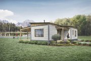 Cabin Style House Plan - 2 Beds 1 Baths 780 Sq/Ft Plan #924-9 Exterior - Front Elevation