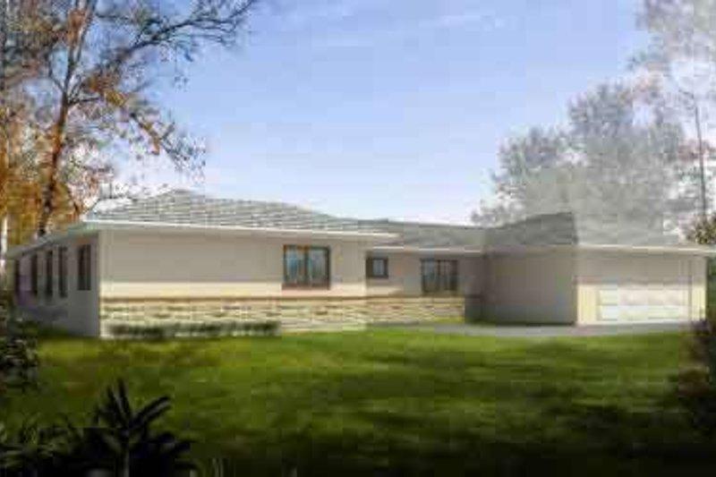Modern Style House Plan - 2 Beds 2 Baths 1706 Sq/Ft Plan #1-1335