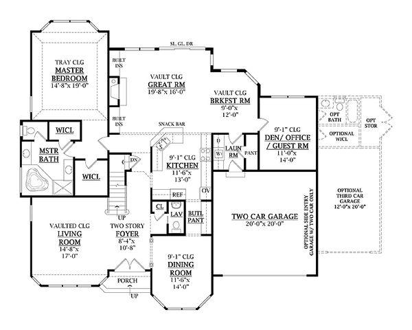 Traditional Floor Plan - Main Floor Plan Plan #456-26