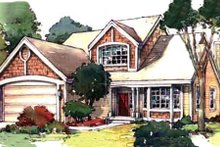 Home Plan - Country Exterior - Front Elevation Plan #320-365